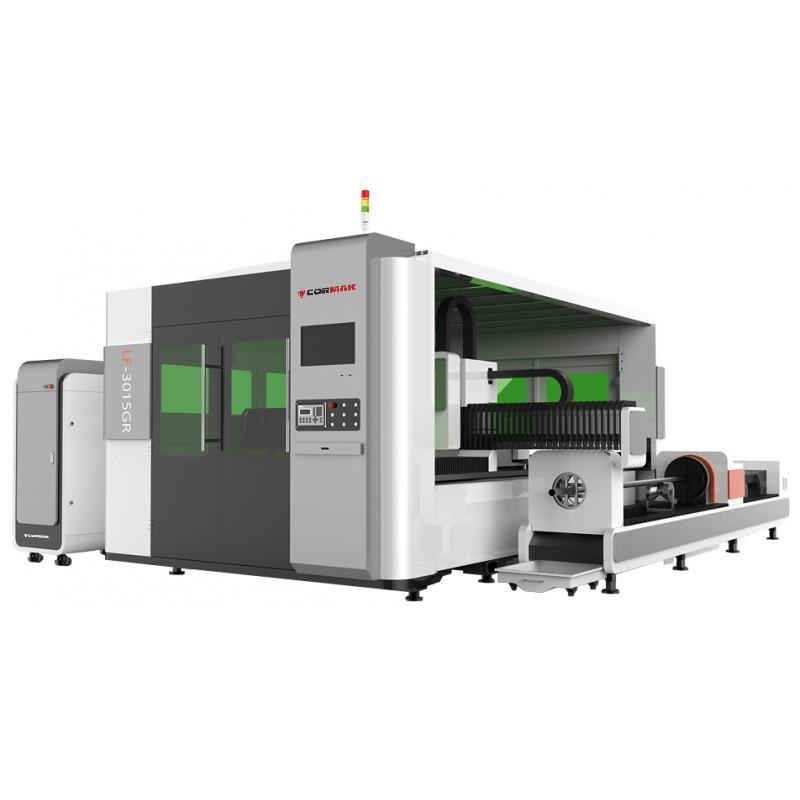 Glasfaserlaser FIBER LF3015GR mit einer Komponente für Rohre und Profile -