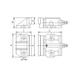 Imadło maszynowe dwudzielne F 200 - Imadło maszynowe dwudzielne F 200