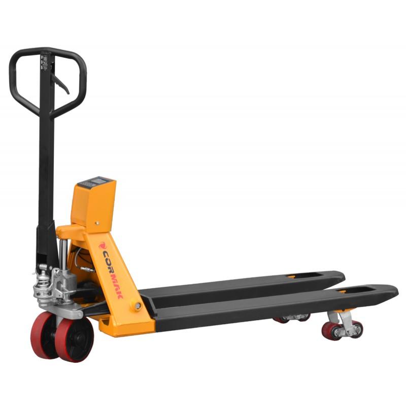 Wózek paletowy z wagą elektroniczną CORMAK SPC550 2 tony -