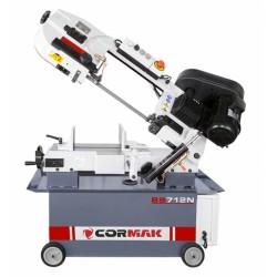 Przecinarka taśmowa CORMAK BS 712 N 230V + 2 piły + 1L chłodziwa + magnetyczny zbieracz wiórów GRATIS - Przecinarka taśmowa CORMAK BS 712 N