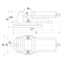 Imadło maszynowe 160x125 mm -