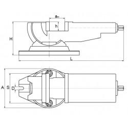 Imadło maszynowe pochylne kołyskowe 125 mm -