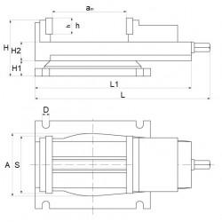 Imadło maszynowe obrotowe 250 mm -