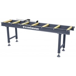 Roller table 2 m with gauge