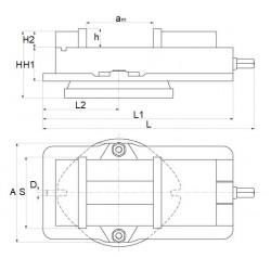 160 mm precision, swivel machine vice -